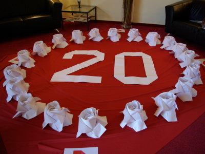20 Rosen | 20. Treffen von Origami Deutschland e.V. | Origami-Kunst