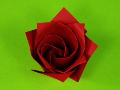 Ein-Minuten-Rose | Blumen | Origami-Kunst