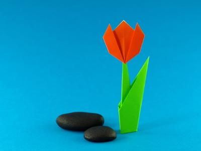 Relativ Einfache Tulpe | Blumen | Origami-Kunst FG61
