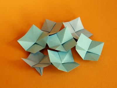 Hortensien  Blumen  Origami-Kunst