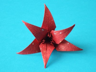 lilie blumen origami kunst. Black Bedroom Furniture Sets. Home Design Ideas