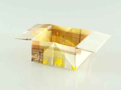 Origami Box mit Henkeln