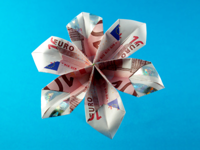 Geldblume | Geldscheine und Geldgeschenke | Origami-Kunst