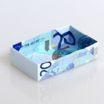 Origami Multibox aus einem Geldscheinen