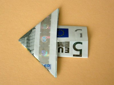 pfeil als lesezeichen geldscheine und geldgeschenke origami kunst. Black Bedroom Furniture Sets. Home Design Ideas