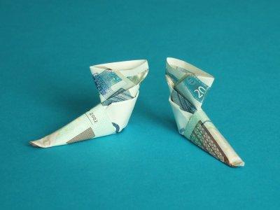 stiefel geldscheine und geldgeschenke origami kunst. Black Bedroom Furniture Sets. Home Design Ideas