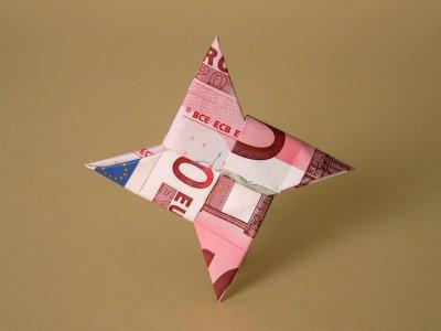 Wurfstern   Geldscheine und Geldgeschenke   Origami-Kunst