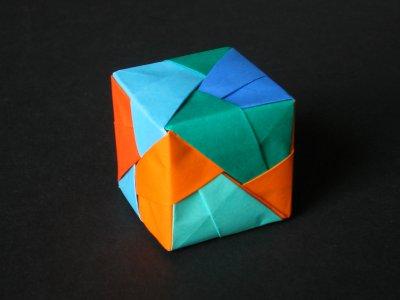 Sonobe Variation - Stripes | Origami diagrams, Useful origami ... | 300x400