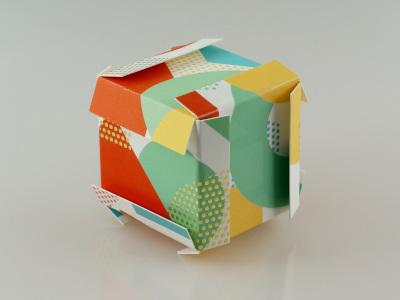 Origami Visitenkartenwürfel