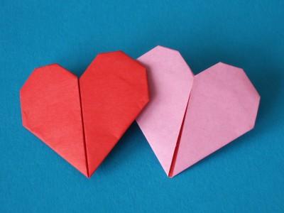 Relativ Zwei Herzen | Objekte | Origami-Kunst DH82