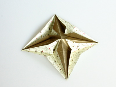 Origami Pop-up Star Folding Instructions - How to fold an Origami ... | 300x400
