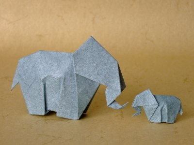 elefant tiere origami kunst. Black Bedroom Furniture Sets. Home Design Ideas