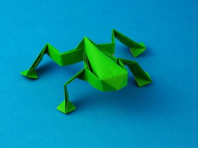 Origami Kawasaki Frosch
