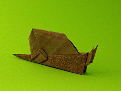 Schnecke Tiere Origami Kunst