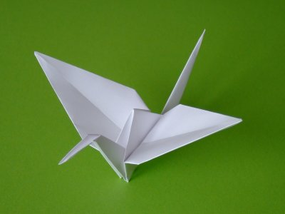Kranich Vögel Origami Kunst