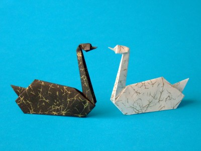 schwan v gel origami kunst. Black Bedroom Furniture Sets. Home Design Ideas